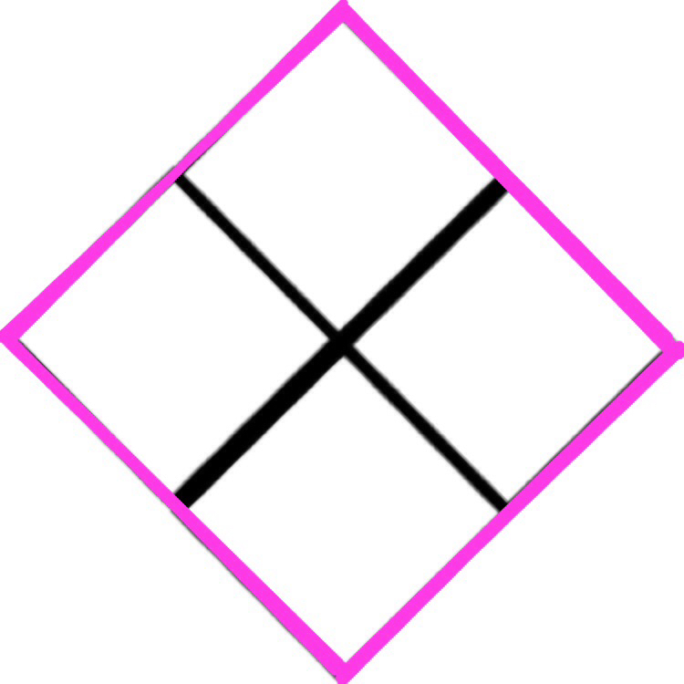 Step 6- image resulting from Step 2 outlined in bright pink using Shape -line function- saved without background