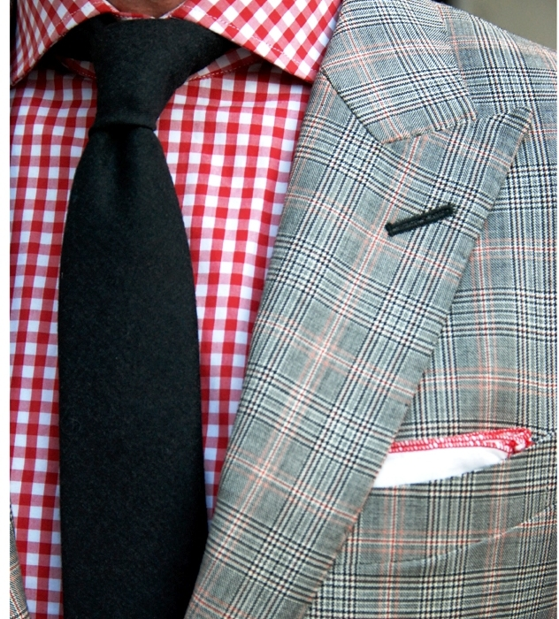 suit and shirt plaid