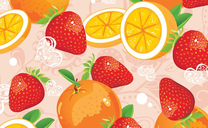 stawberry-and-orange-pattern