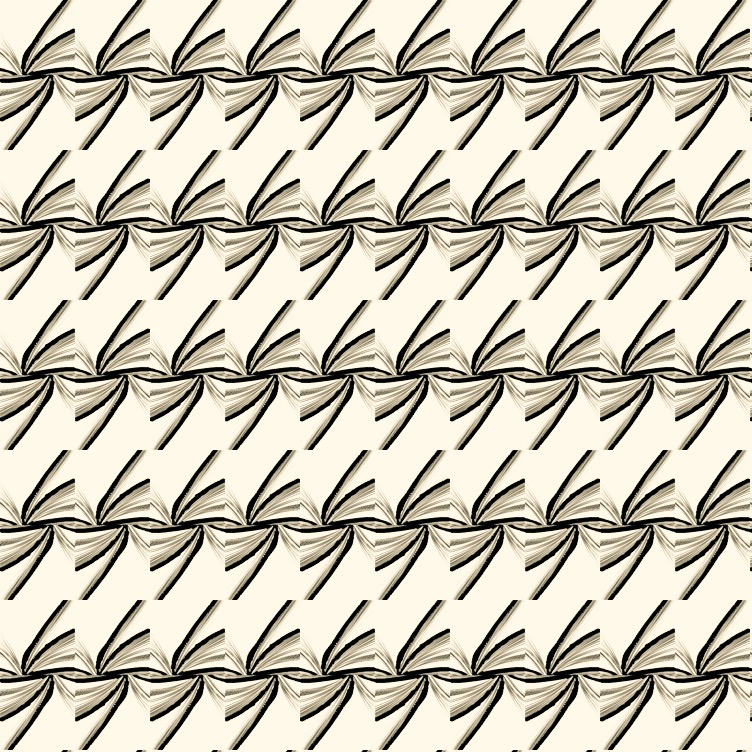pattern from open book pages