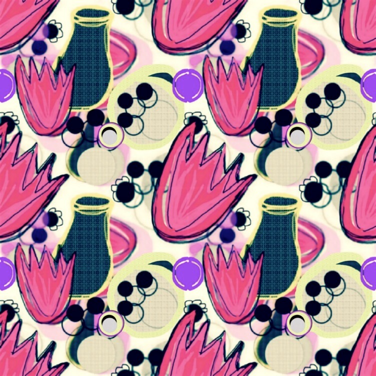 tulip print inspired by book spine