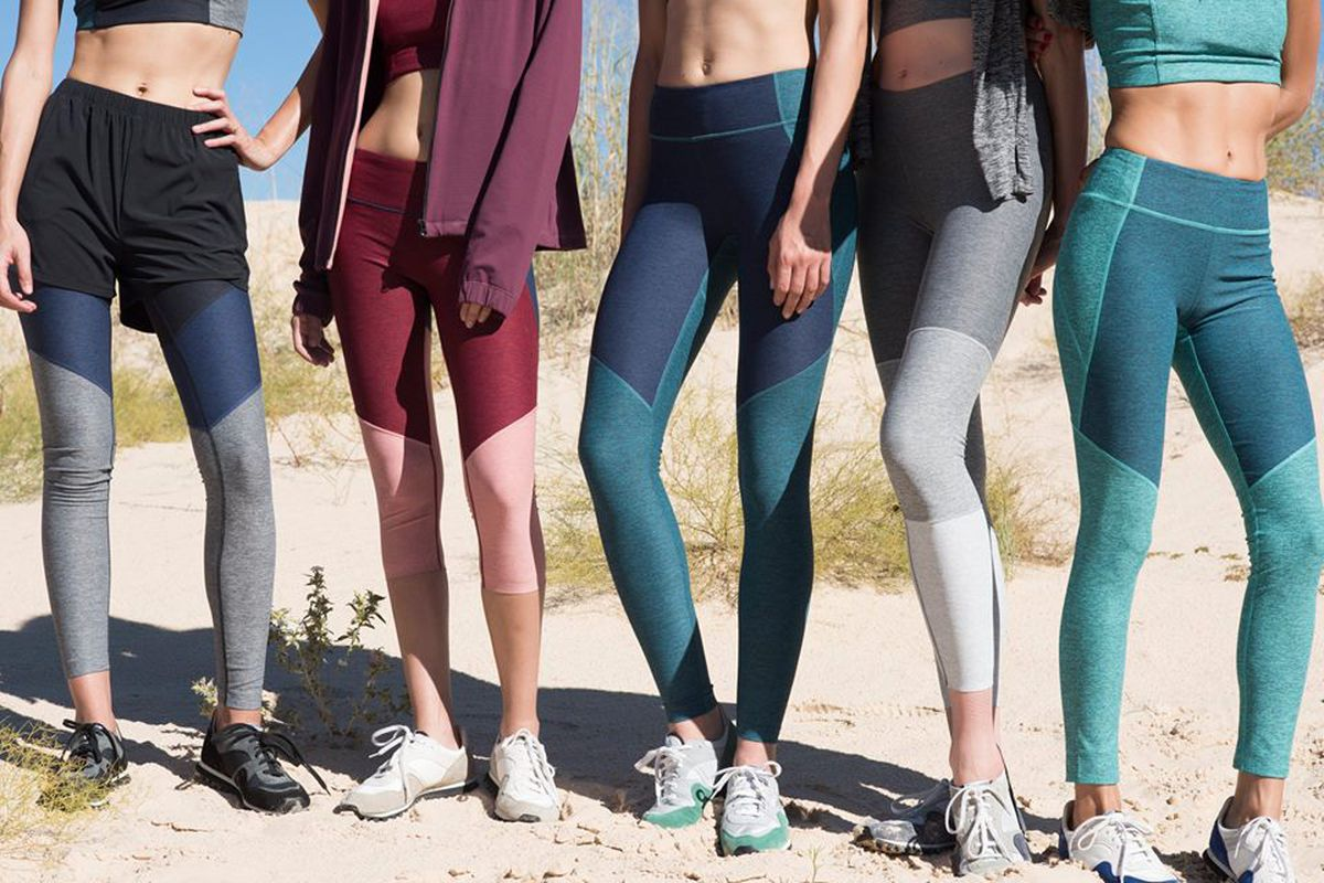 five women in outdoor voices leggings