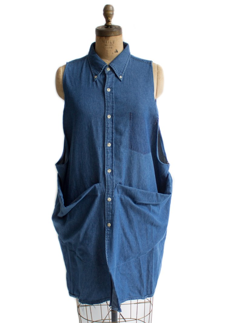small batch clothing line STATE's denim doll smock