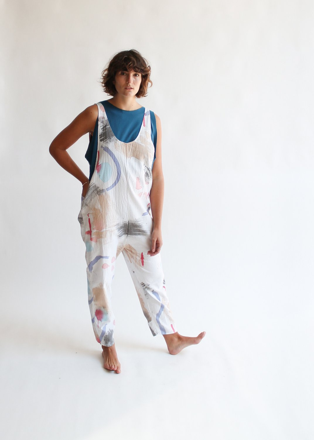 small batch clothing line STATE the Label's paint summeralls