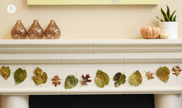 patterns of nature diy featuring DIY Leaf Garland via Warm Hot Chocolate