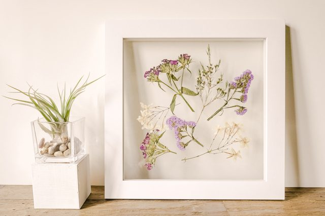 patterns of nature DIY featuring flower pressing via Hunker