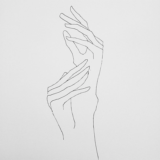 Inspired by Line drawings featuring Hands Dancing by Frédéric Forest