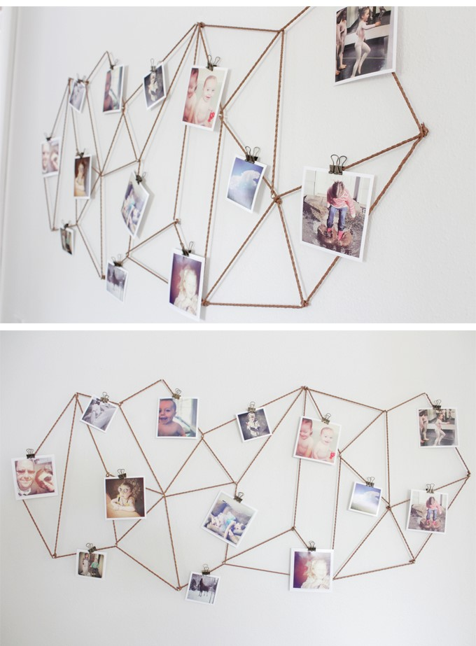 geometric photo display matisse inspired diy