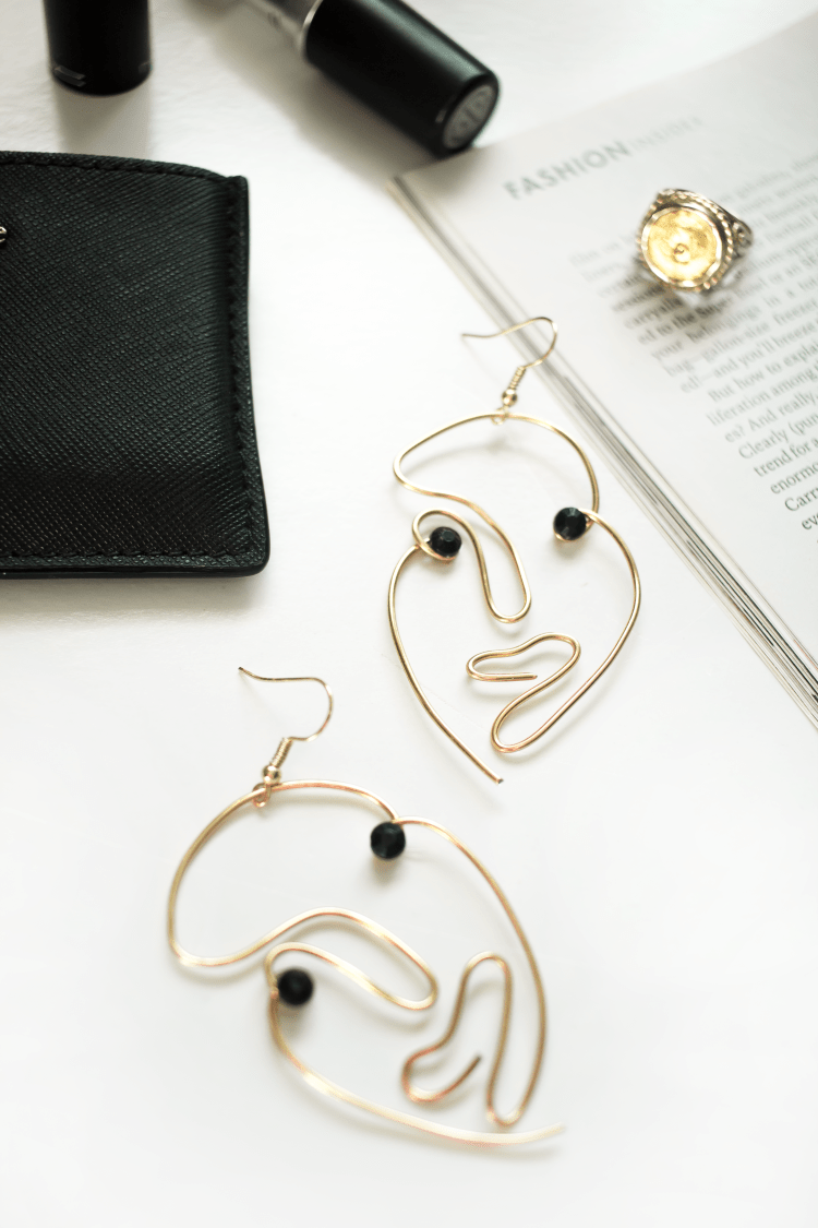 hollow face earrings matisse inspired diy
