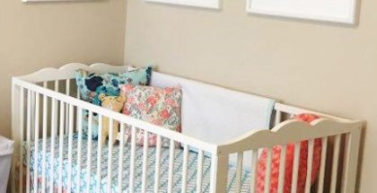 No-Sew Crib Skirt DIY Baby Decor Roundup