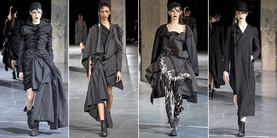 Yohji Yamamoto designs color in fashion