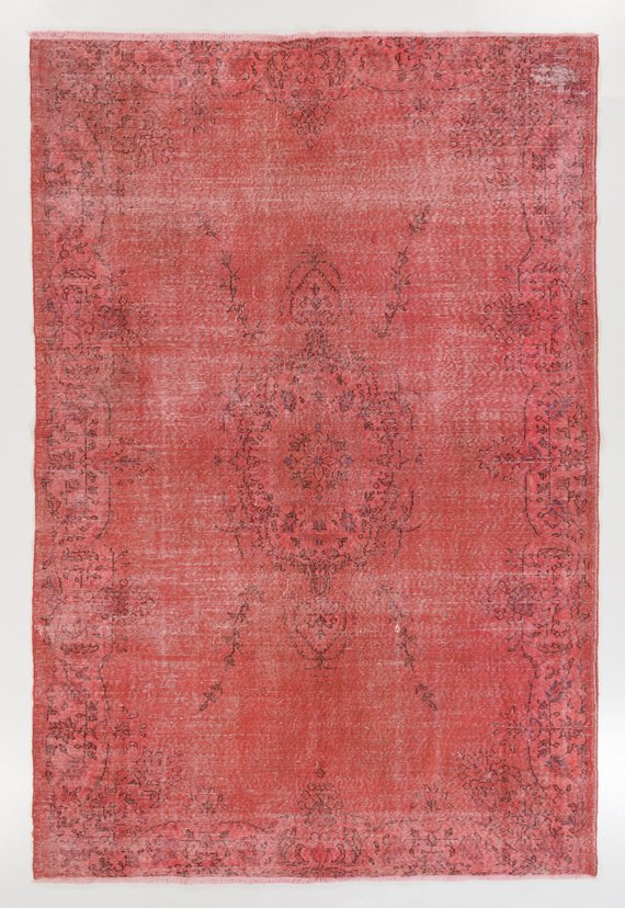 Pink rug living coral