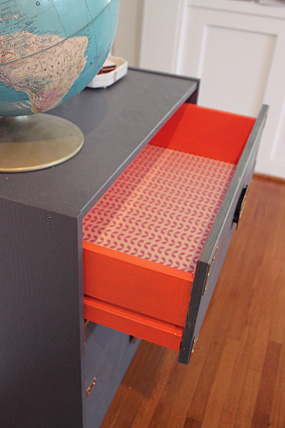painted dresser drawers living coral diy