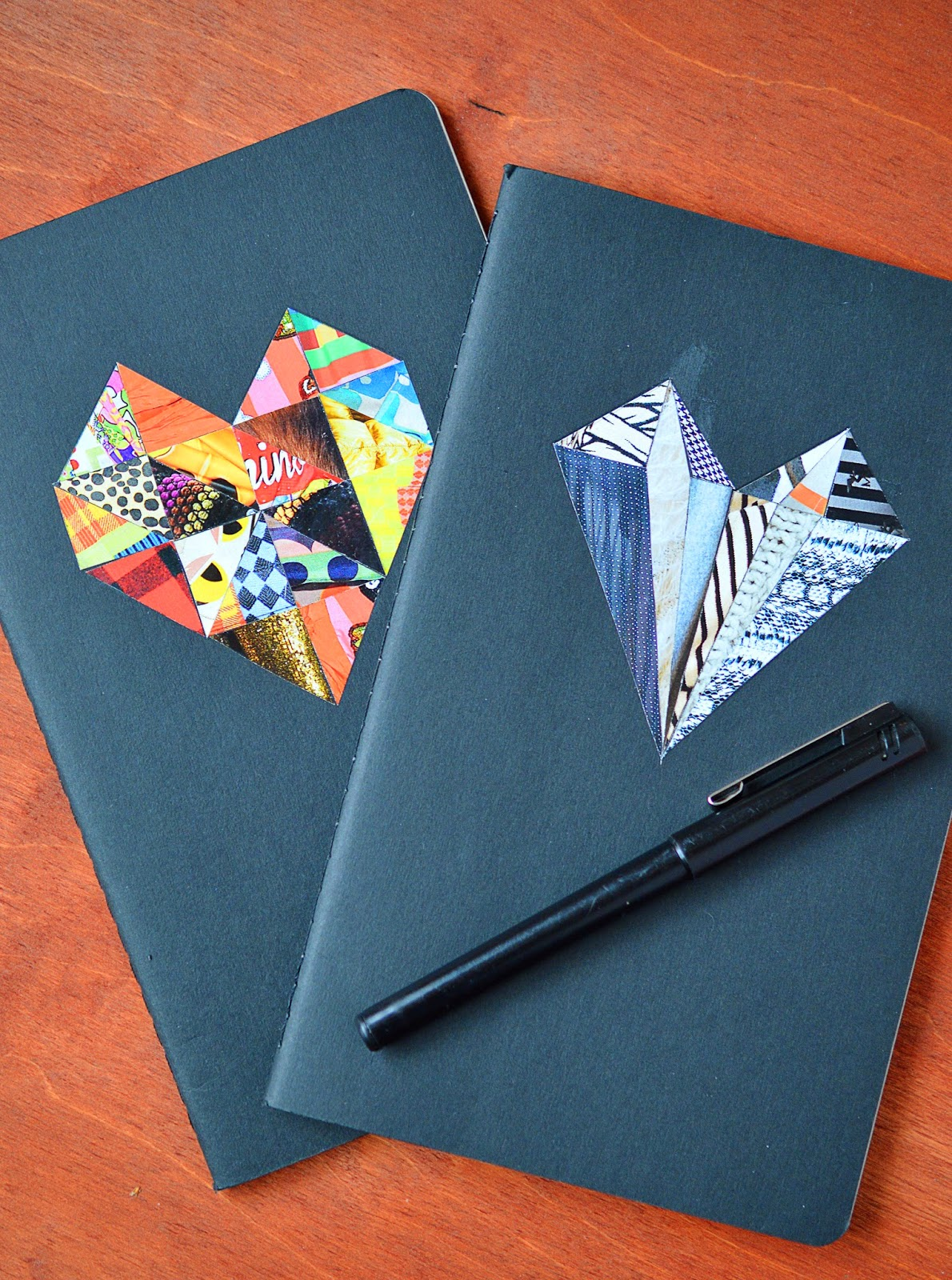 =geometric collage notebook cover by motte