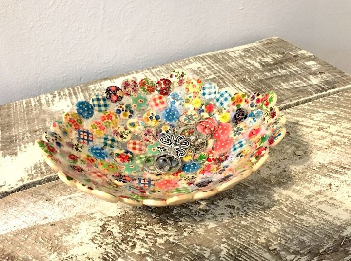 recycled button bowl via Hometalk